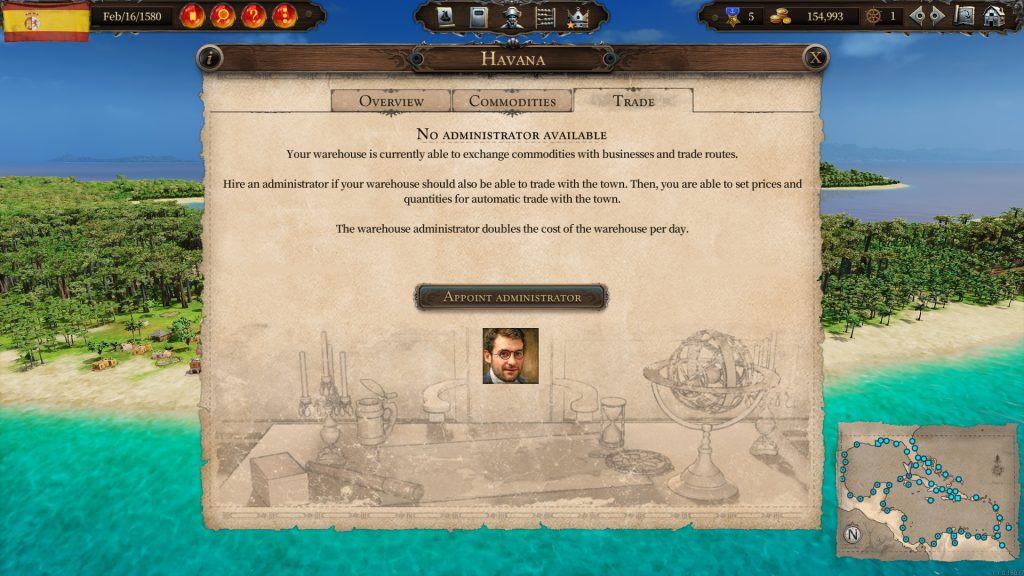 Warehouse Administrator Screenshot English